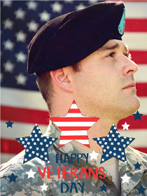 Happy Veterans Day - Veterans Day Photocard