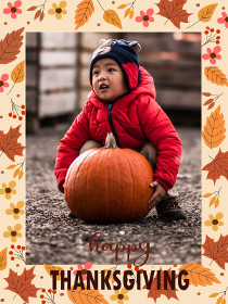Happy Thanksgiving - Thanksgiving Photocard