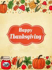 picture about Printable Thanksgiving Cards named Absolutely free Printable Thanksgiving Playing cards, Produce and Print Totally free