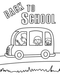 Back to School Coloring Card