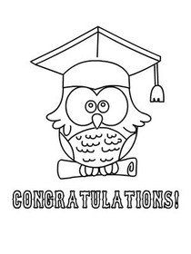congratulations! - Graduation Coloring Card
