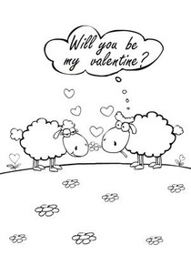 Will You be My Valentine? - Coloring Card