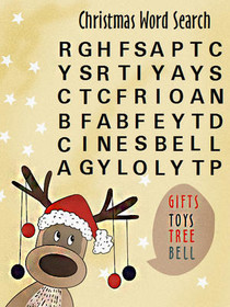 Christmas Word Search - Gifts Toys Tree Bell