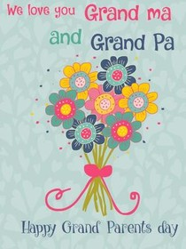 We Love You Grandma and Grandpa - Happy Grandparents Day
