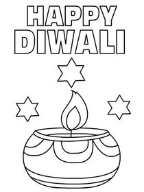 Free Printable Diwali Coloring Cards Cards Create and Print Free