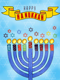 photograph regarding Free Printable Hanukkah Cards named Cost-free Printable Hanukkah Playing cards, Build and Print Cost-free
