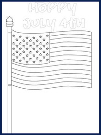 July 4th - Color your card 1