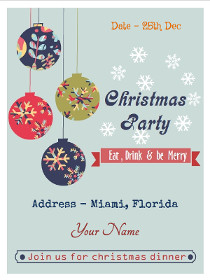 Christmas Party - Eat, Drink and Be Merry - Join Us for Christmas Dinner