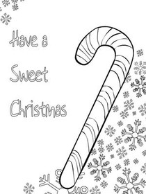 Christmas Coloring Card 5