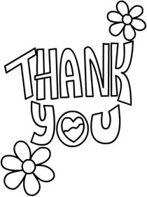 Free Printable Thank You Coloring Cards Cards, Create and Print Free ...