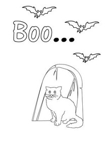 Boo... - Coloring Card