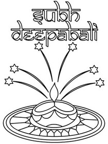 Diwali Coloring Card 3