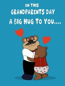 On this Grandparents Day A Big Hug to You....