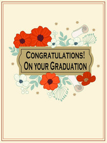 Congratulations! On Your Graduation