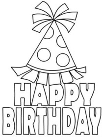 Free Printable Birthday Coloring Cards Cards, Create and ...