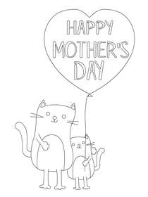 Mothers Day Coloring Card