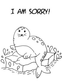 I am Sorry!! - Coloring Card