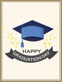 Vibrant image inside printable graduation card