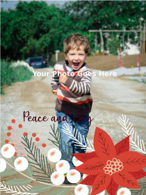 Peace and Joy - Christmas Photocard