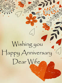 Wishing You Happy Anniversary Dear Wife