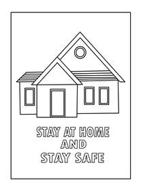Stay at Home and Stay Safe - Coloring Card