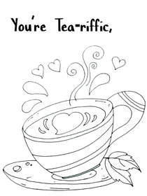 You're Tea-riffic - Coloring Card