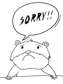 Sorry!! - Coloring Card