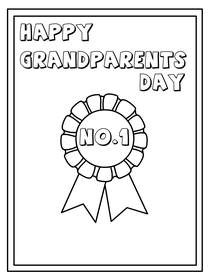 Happy Grandparents Day No. 1 - Coloring Card