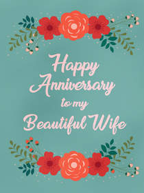 Happy Anniversary to My Beautiful Wife
