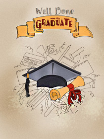 image regarding Graduation Cards Printable identified as Totally free Printable Commencement Playing cards, Generate and Print Totally free