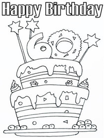 Happy Birthday Coloring Pages Tag: Amazing Happy Birthday Coloring Card.  Awesome Happy Coloring Pages Printable. Stunning Birthday Coloring Sheets. | 280x210