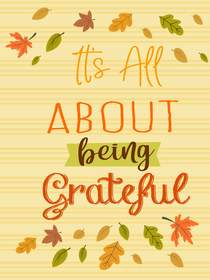 Its All About Being Thankful