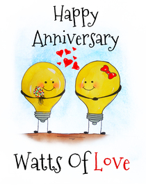Happy Anniversary - Watts of Love