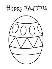 Easter Coloring Card 2