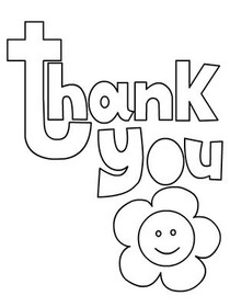 coloring pages thank you card - photo#10