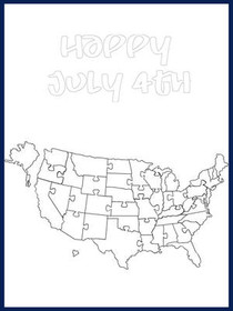 July 4th - Color your card 2