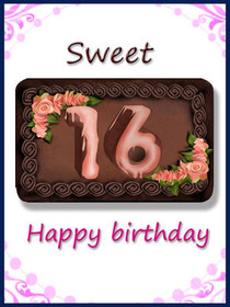 Sweet 16 - Happy Birthday