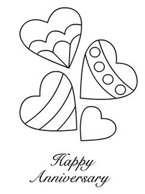 Free printable anniversary cards create and print free for Wedding anniversary coloring pages