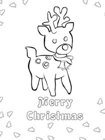Christmas Coloring Card 6
