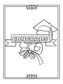 Congrads! - Graduation Coloring Card