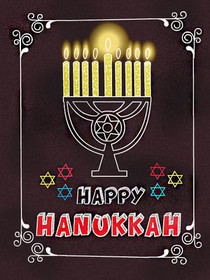 image about Printable Hanukkah Card identified as Cost-free Printable Hanukkah Playing cards, Develop and Print Free of charge