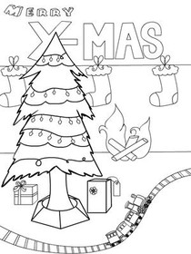 Merry X-Mas - Coloring Card