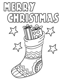 merry christmas christmas coloring card