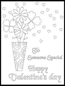 To Someone Special Happy Valentine's Day - Coloring Card