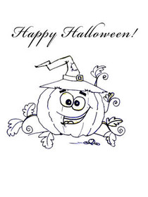 Happy Halloween! - Coloring Card
