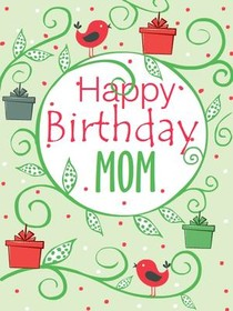Sweet image in mom birthday card printable