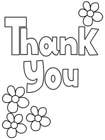 coloring pages thank you card - photo#16