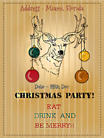 Christmas Party! Eat Drink and Be Merry!