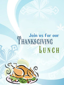 Join Us for Our Thanksgiving Lunch