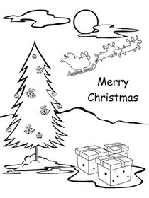 Christmas Coloring Card 3